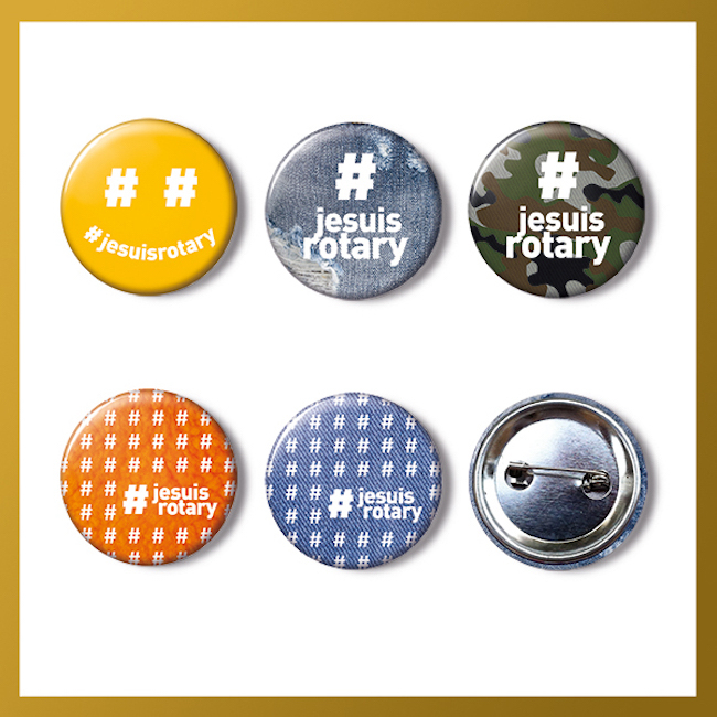 Badges #jesuisrotary - 1 sachet 50 badges