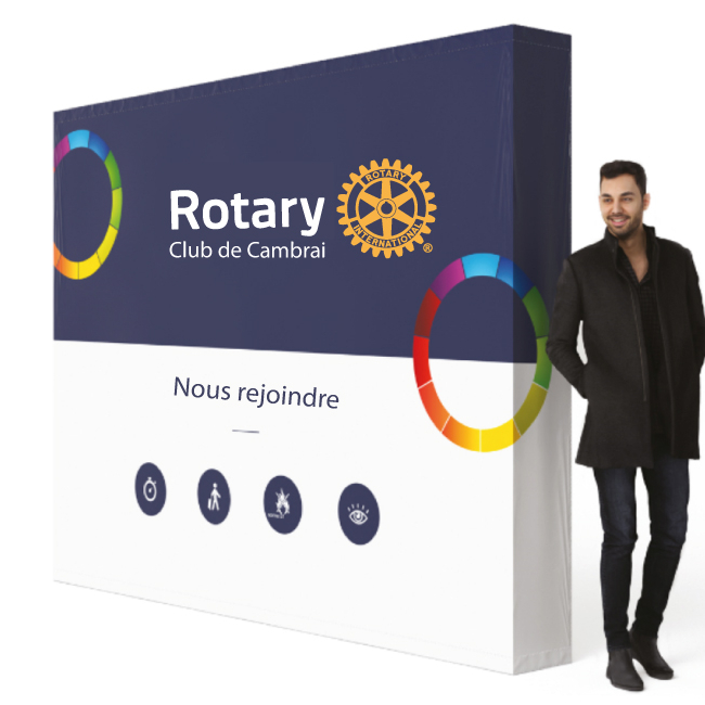 Stand photocall Rotary personnalisé