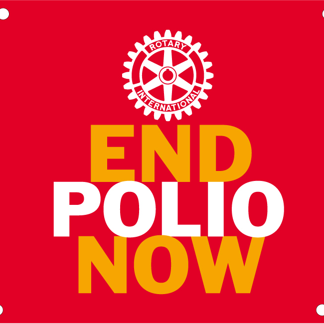 Banderole End Polio Now 3m x 1m